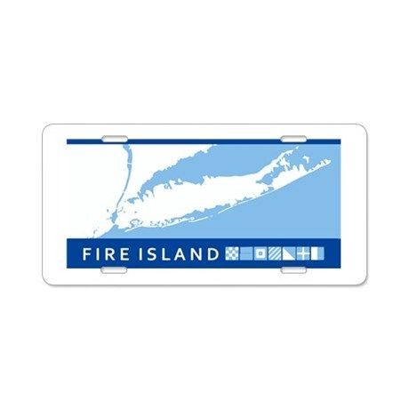 Fire Island - Long Island. Aluminum License Plate on CafePress.com