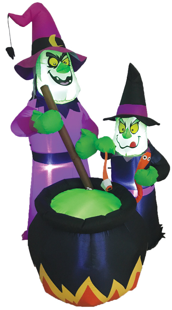 Witches Brew Inflatable W Led Costumepub Com In 2020 Halloween Lawn Decorations Witches Brew Halloween Props Scary