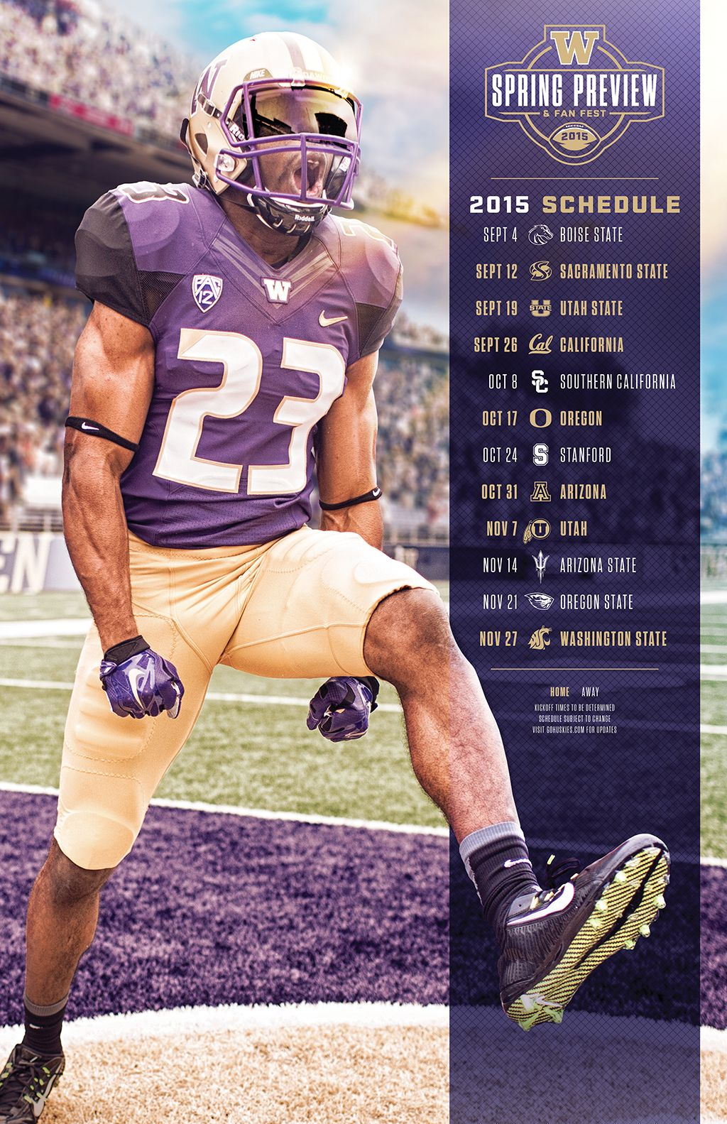 Wa Fb 2015 Spring Preview Roster Shell2 Jpg By Brian Gundell Sports Graphic Design Sports Design Inspiration Schedule Design