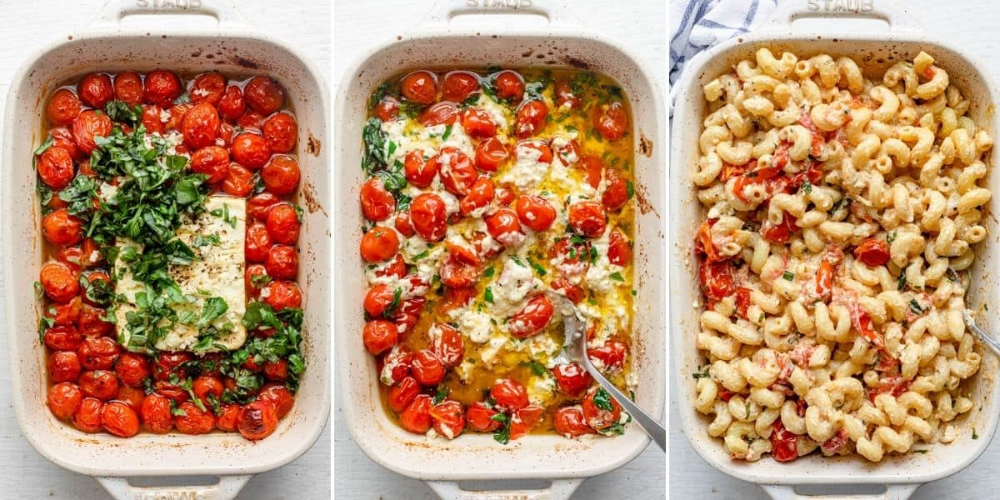 Baked Feta Pasta {With Cherry Tomatoes}   FeelGood