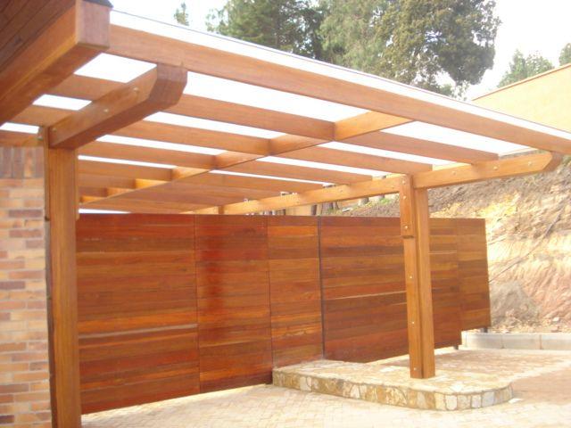 pergolas de madera y policarbonato - Buscar con Google : jardin ...
