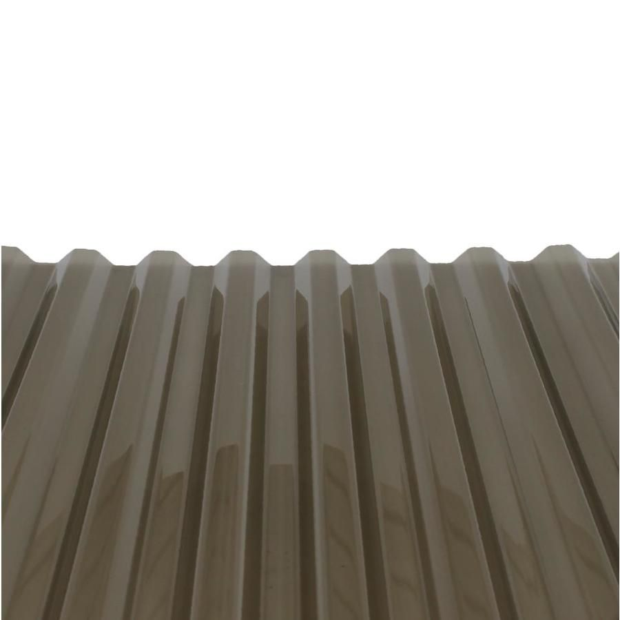Tuftex Polycarb 2 17 Ft X 12 Ft Corrugated Gray Polycarbonate Plastic Roof Panel Lowes Com Polycarbonate Roof Panels Roof Panels Plastic Roofing