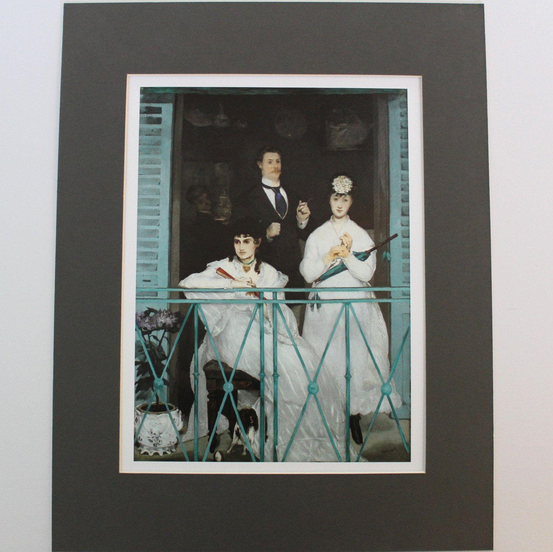 THE BALCONY Fine Art Print by Edouard Mounted