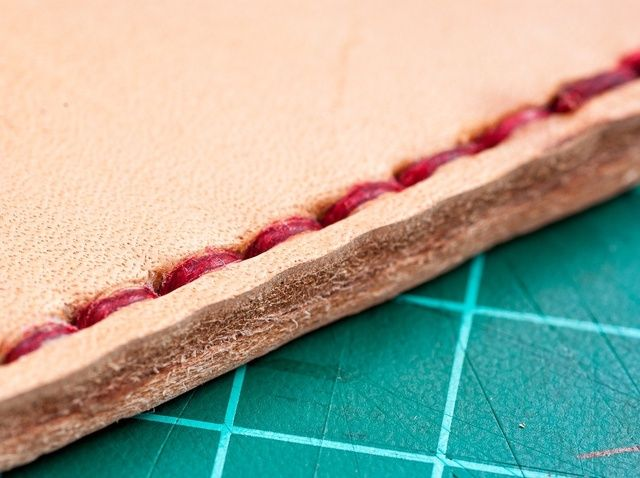 How to Hand Sew Leather: Awl, stitch groover, needles