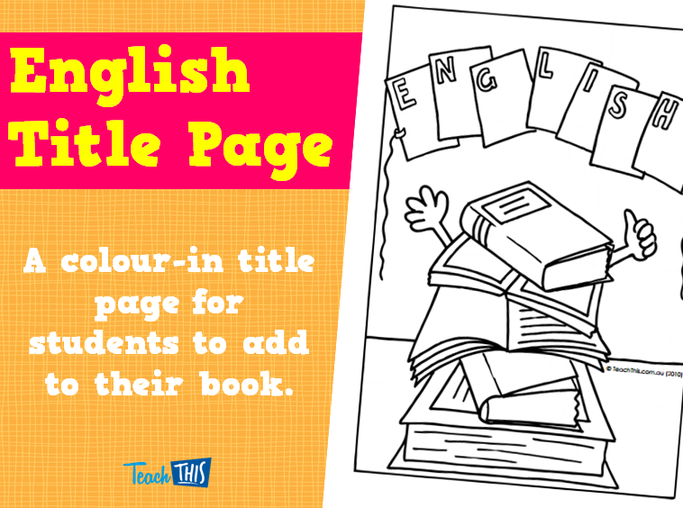 English Title Page | Title Pages | Pinterest | English and ...