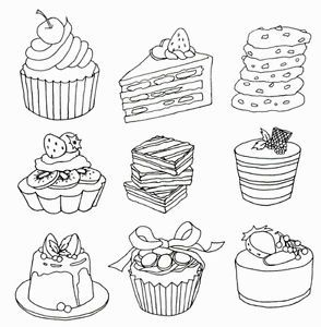 ONLY BAKERY Bread Food Coloring Book For Adult Painting