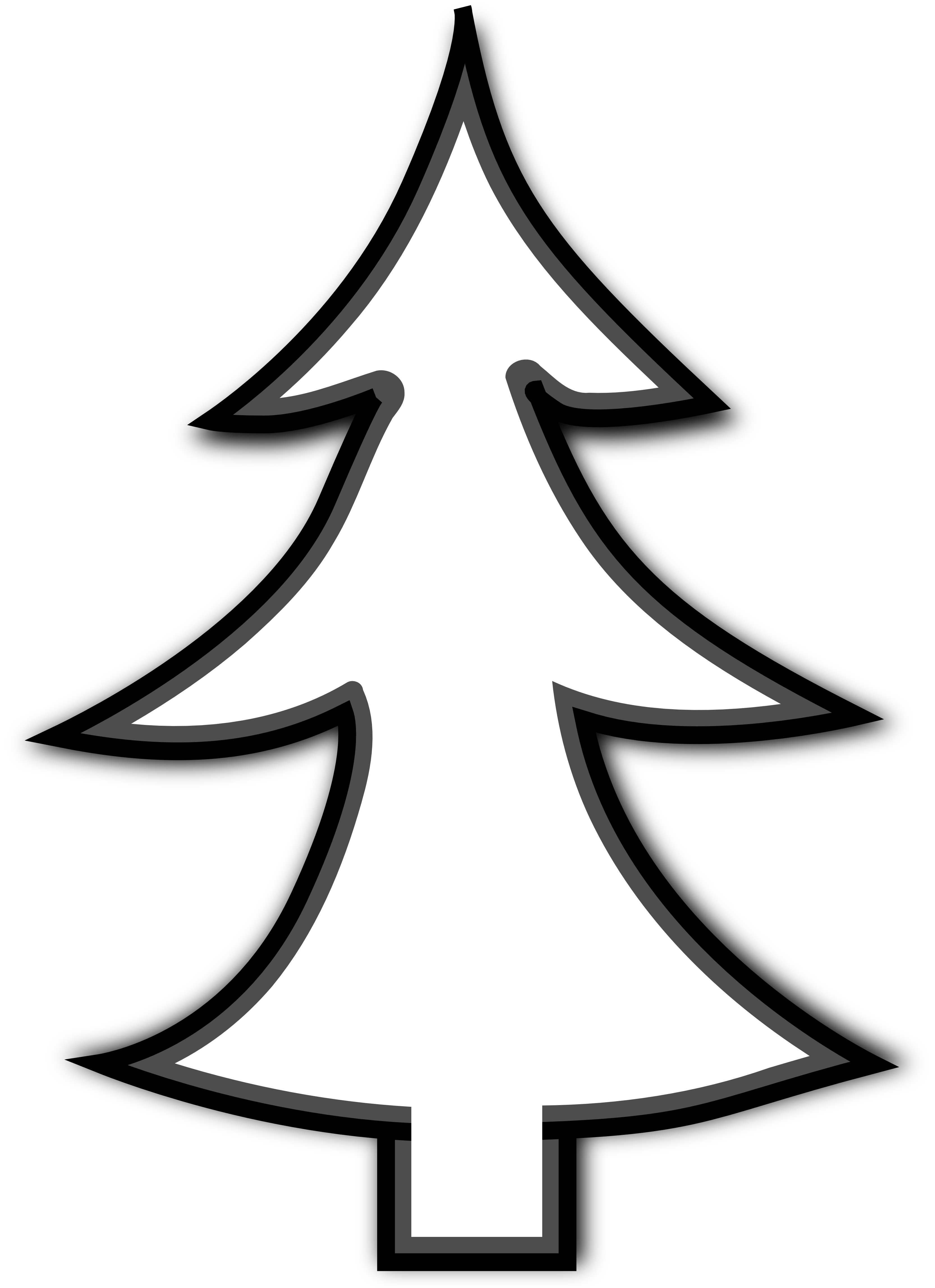 Christmas Tree Clip Art Black And White Christmas Tree Clipart Tree Clipart Tree Outline