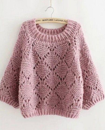 Пуловер спицами #crochetedsweaters