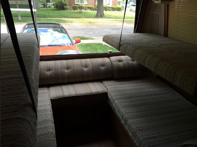 Rear Bunk Beds Gmc Motorhome Rv Interior Vintage Rv