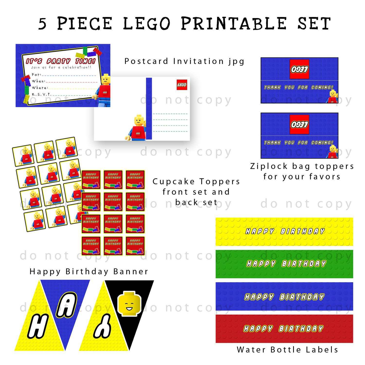 Lego party printable set baby shower ideas pinterest lego party printable set filmwisefo