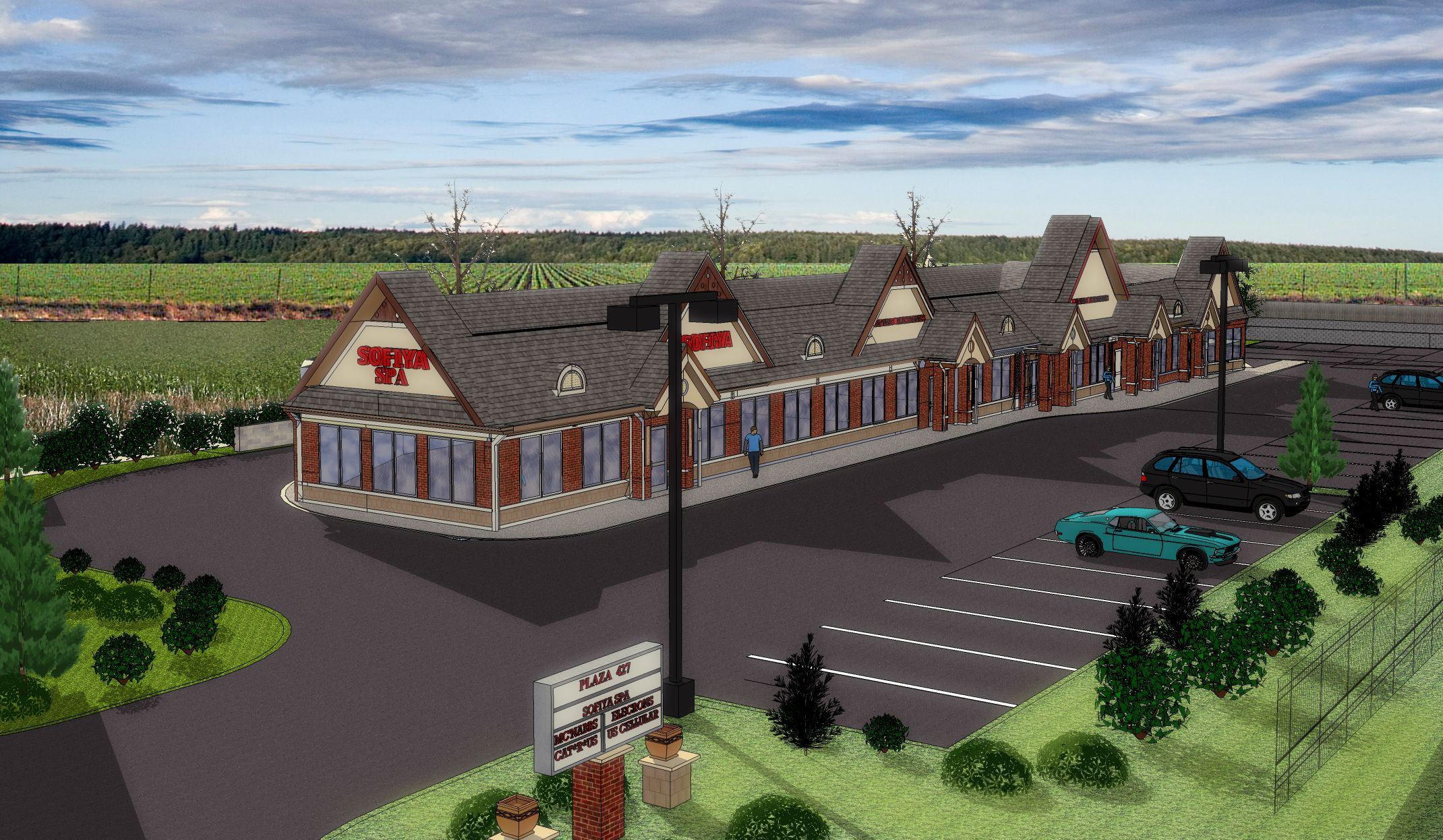 Amusing investing in strip malls can