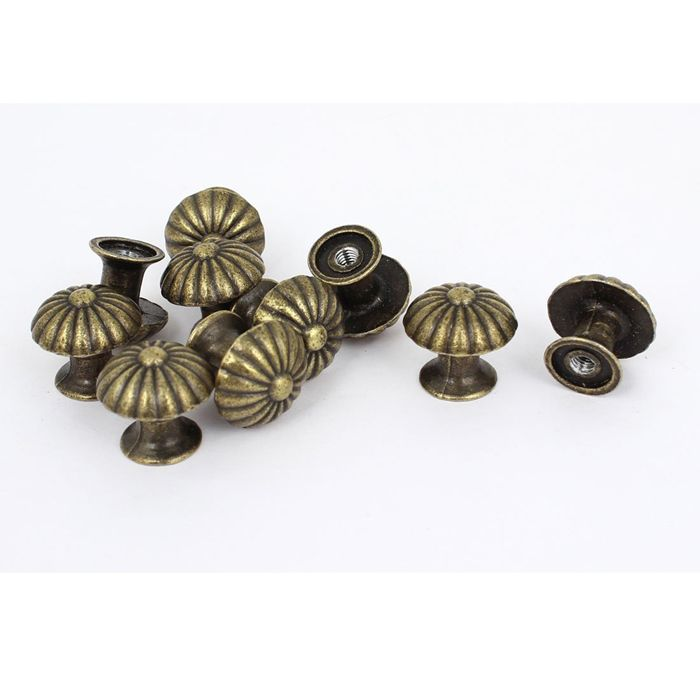 Small Bronze Door Knobs Case Cabinet Cupboard Drawer Pull Handle Jewelry  Box Miniature Dome Knobs 18