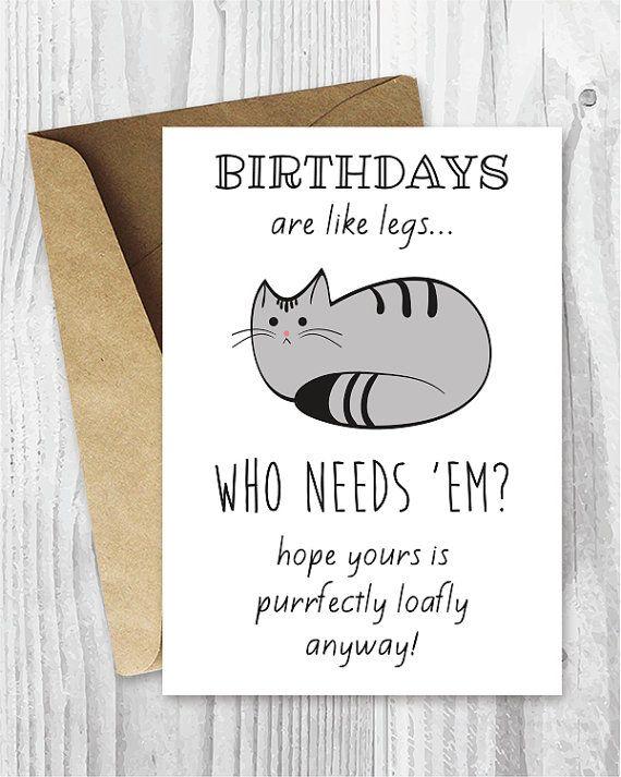 Funny Birthday Cards Cat Birthday Printable Cards Digital Etsy Funny Printable Birthday Cards Birthday Card Printable Cat Birthday Cards Funny