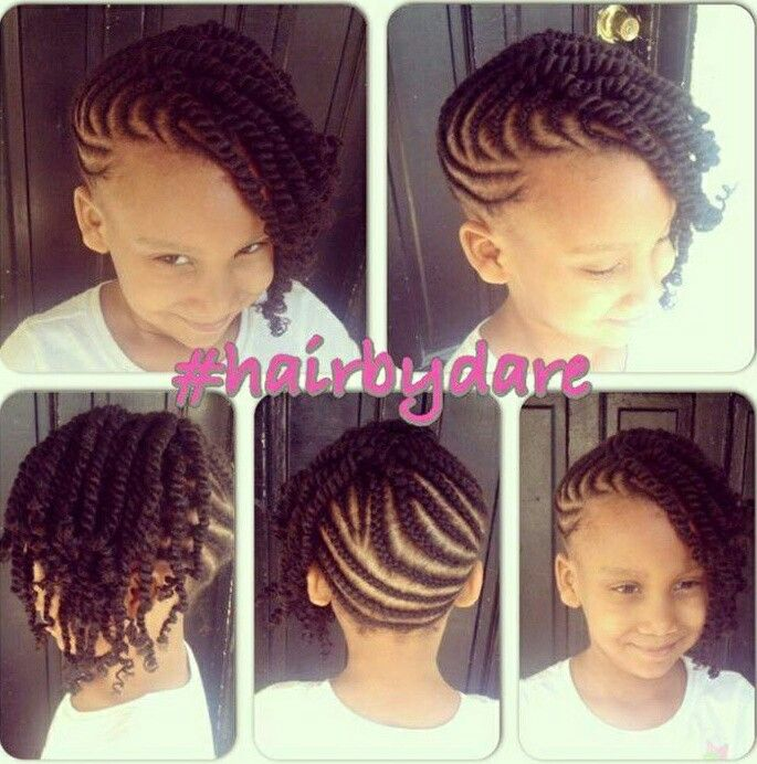 Cornrow And Twists Updo Combo Style Hairbydare Flats