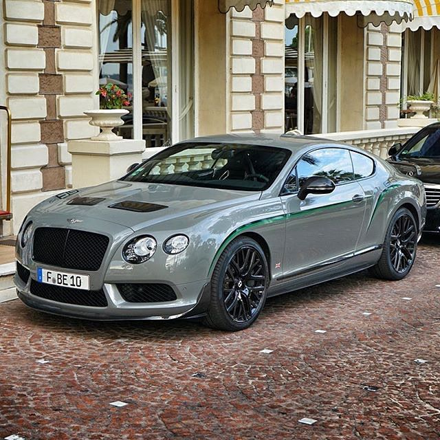 Bentley Continental Gt3 R: Continental GT3-R... Love That Smoky Charcoal Grey Color