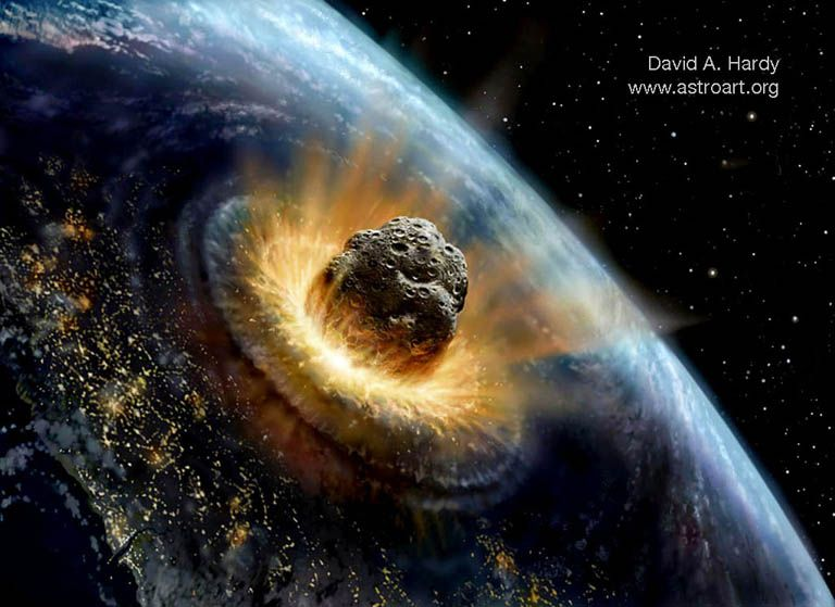 """Chicxulub asteroid impact -- Chicxulub means """"Tail of the ..."""
