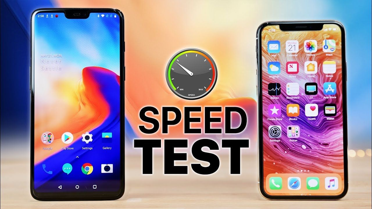 OnePlus 6 vs iPhone X Speed Test! | Mobile | Speed test