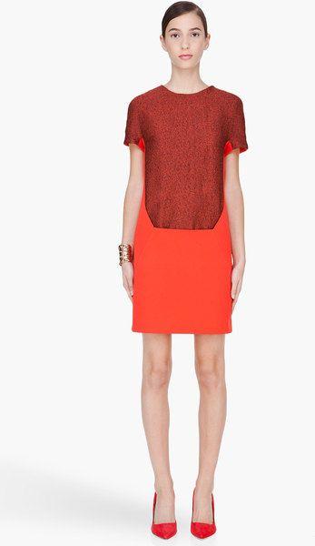 Women\'s Red Cap Sleeve Dress | Pinterest | Hussein chalayan, Sleeved ...