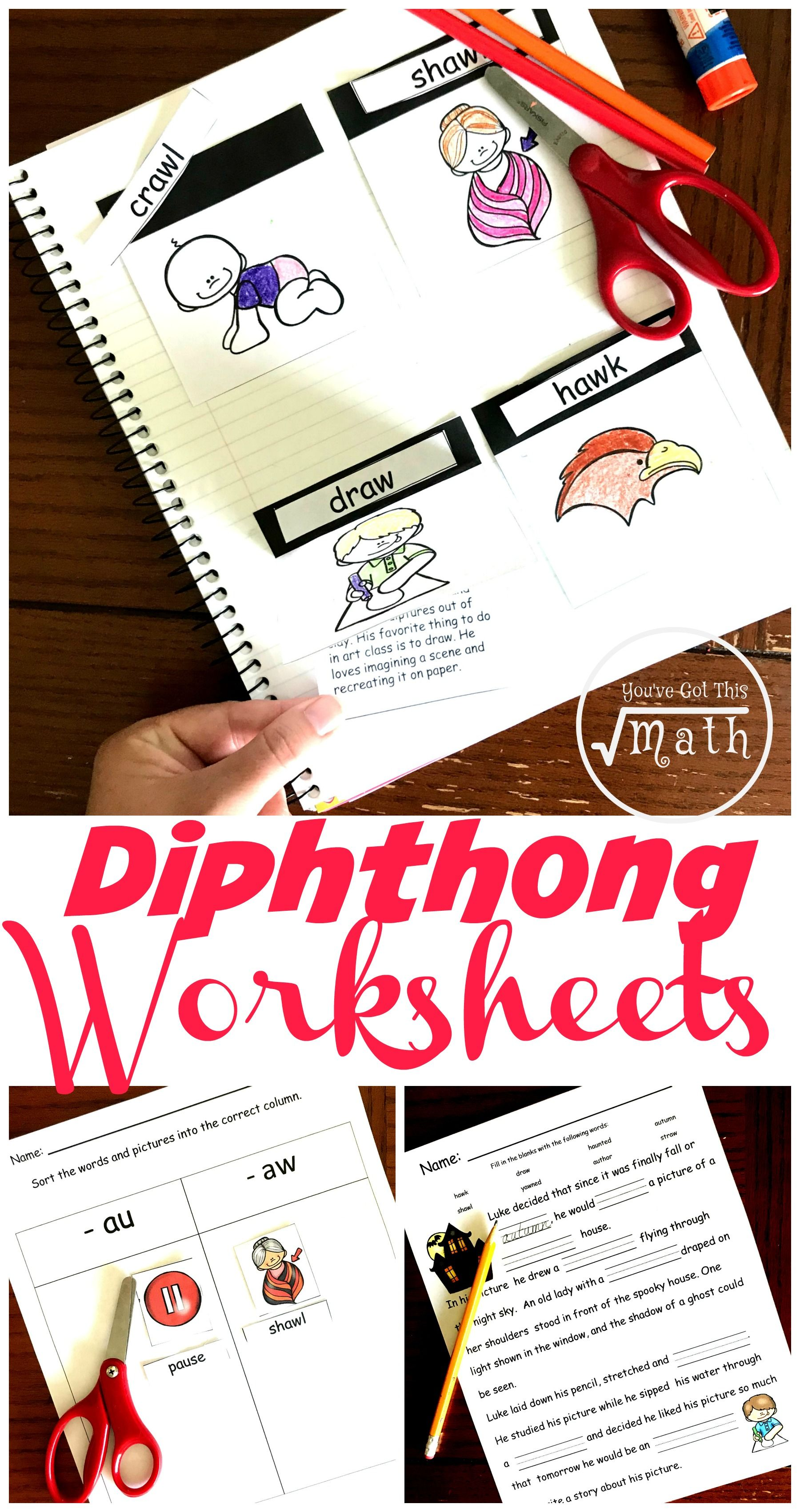 Free Hands On Diphthongs Worksheet For Au And Aw