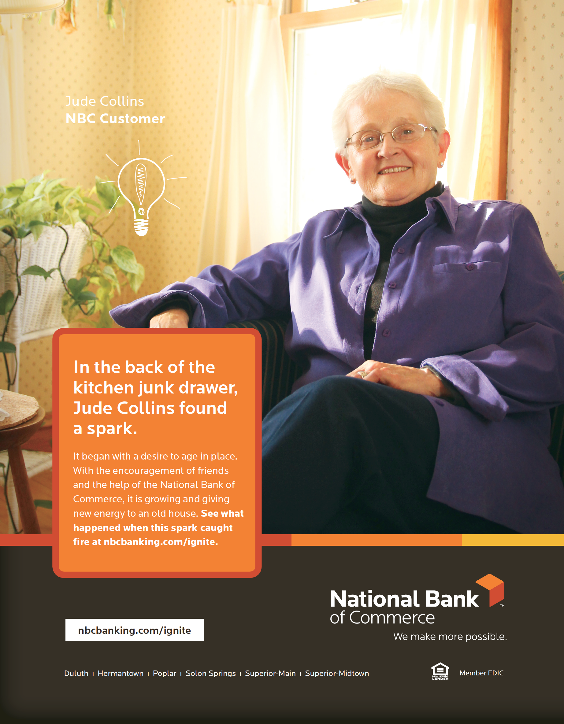 Ad from National Bank of Commerce's Ignite Campaign. Watch this video to learn more about Jude's story: http://vimeo.com/116004668