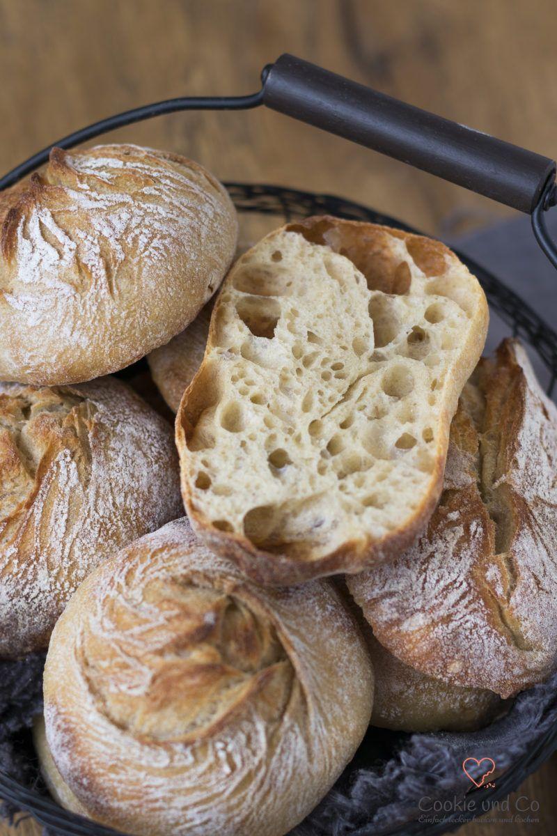No knead Brötchen - genial einfach   Cookie und Co