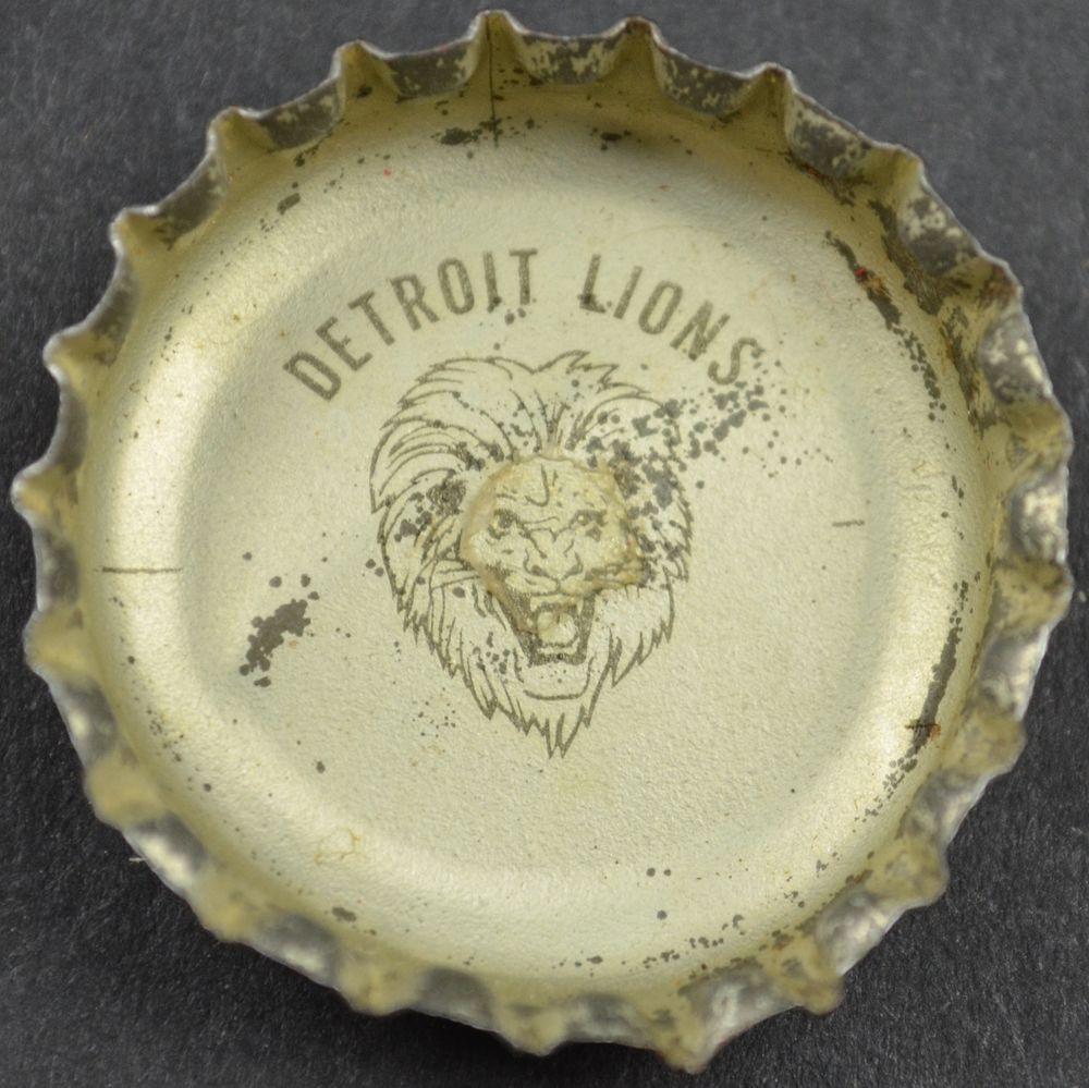 Vintage Coca Cola King Size NFL Team Bottle Cap Detroit Lions Coke