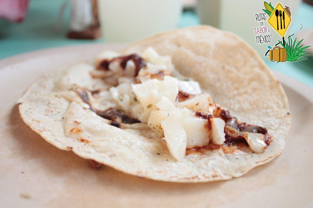 ¿Se te antoja? #saborea los ricos #tacos de Huevito de #Maguey en la Ruta Gastronómica de #Pulque