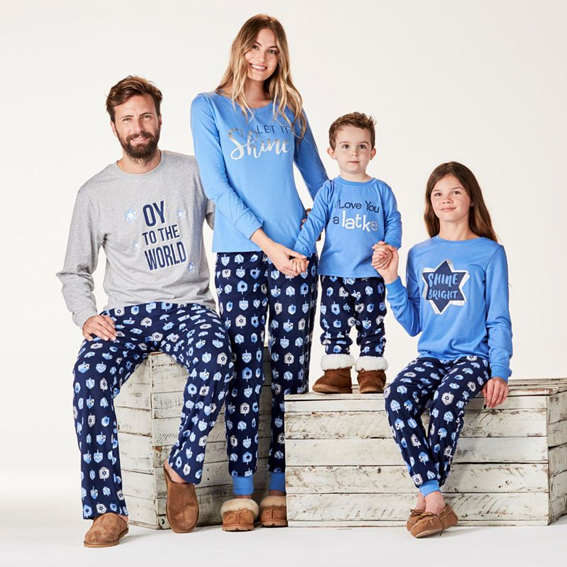 FAMJAMS Hanukkah Family Pajama Set Men's Family pajama
