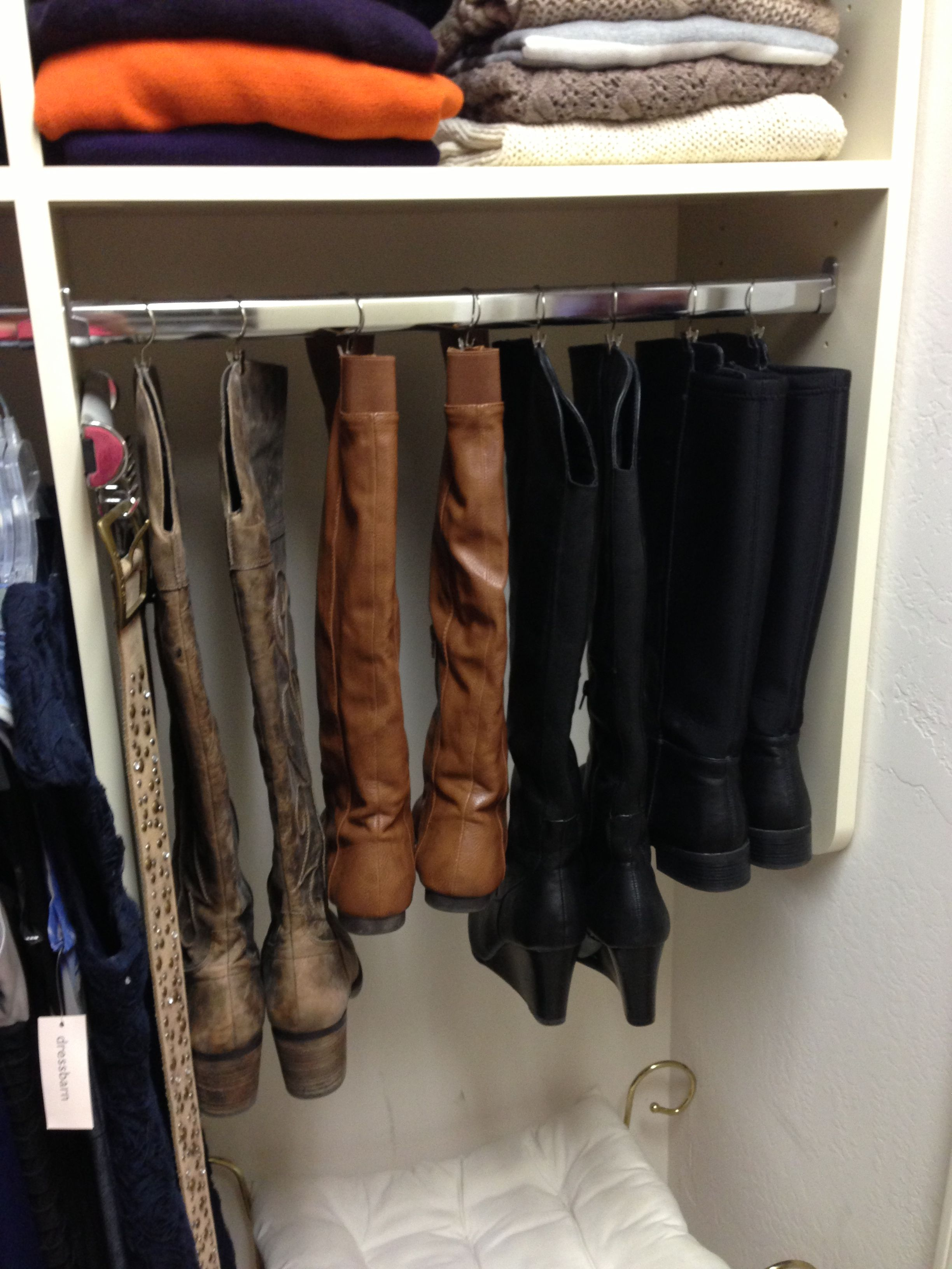 How To Store Tall Boots So They Don T Flop Over Hang With Binder
