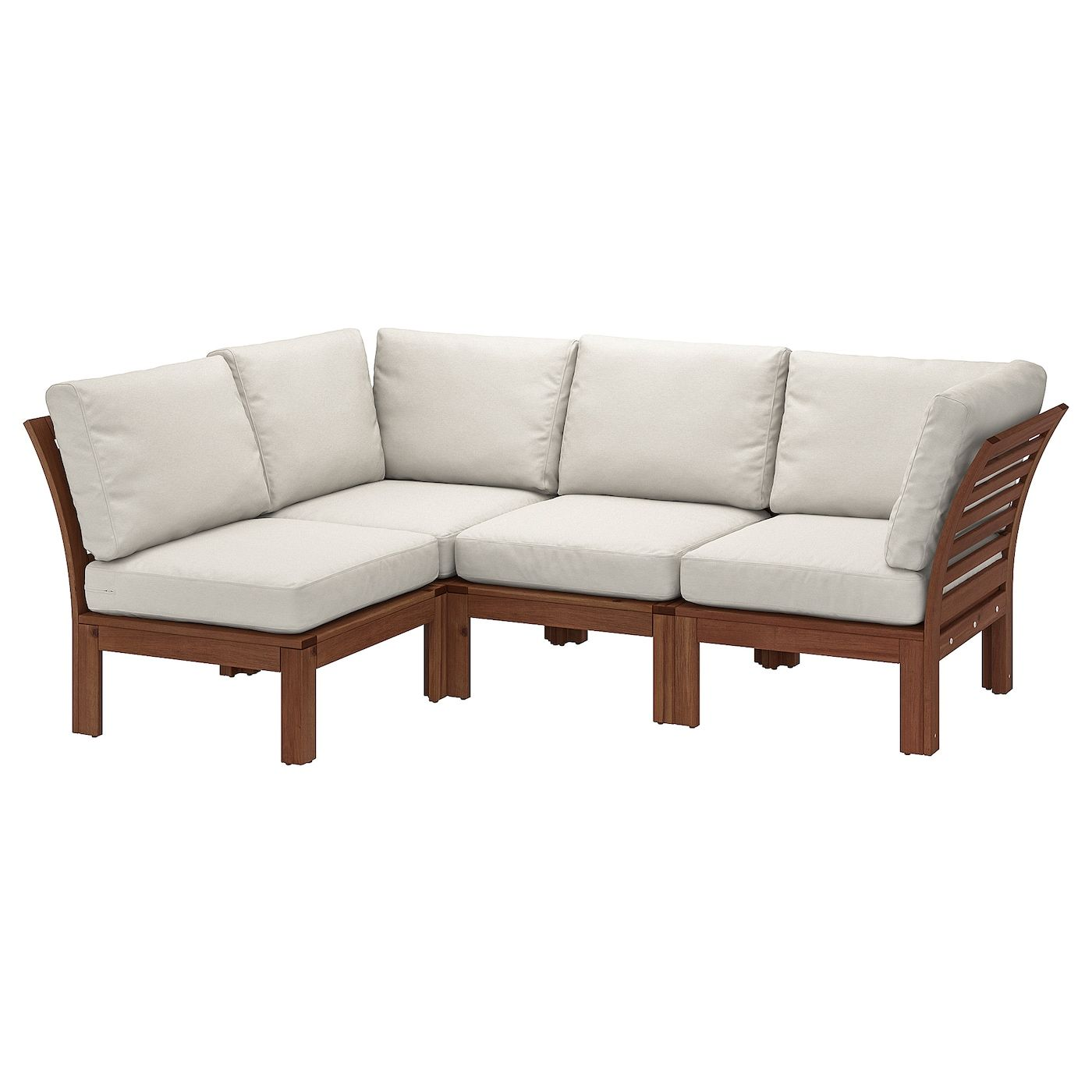 Applaro Modular Corner Sofa 3 Seat Outdoor Brown Stained Froson Duvholmen Beige 56 1 4 87 3 4x31 1 2x33 1 8 In 2020 Modular Corner Sofa Corner Sofa Outdoor Sofa