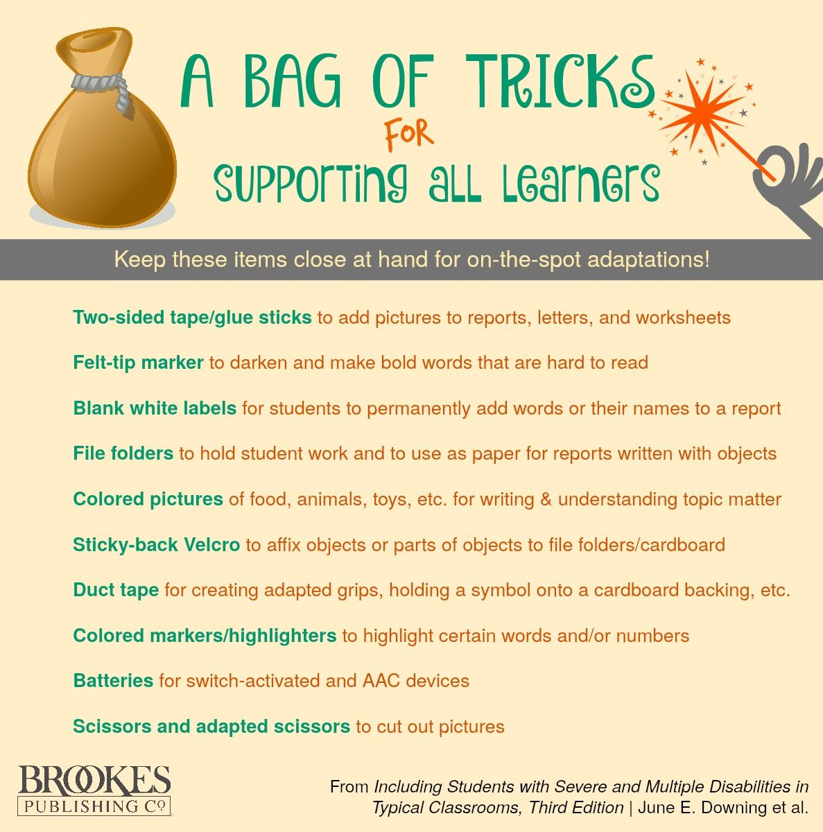 """Try assembling this """"bag of tricks"""" for supporting all"""