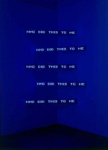 "performance-sofa: "" Jenny Holzer — Blue Corner Five, 2003. """