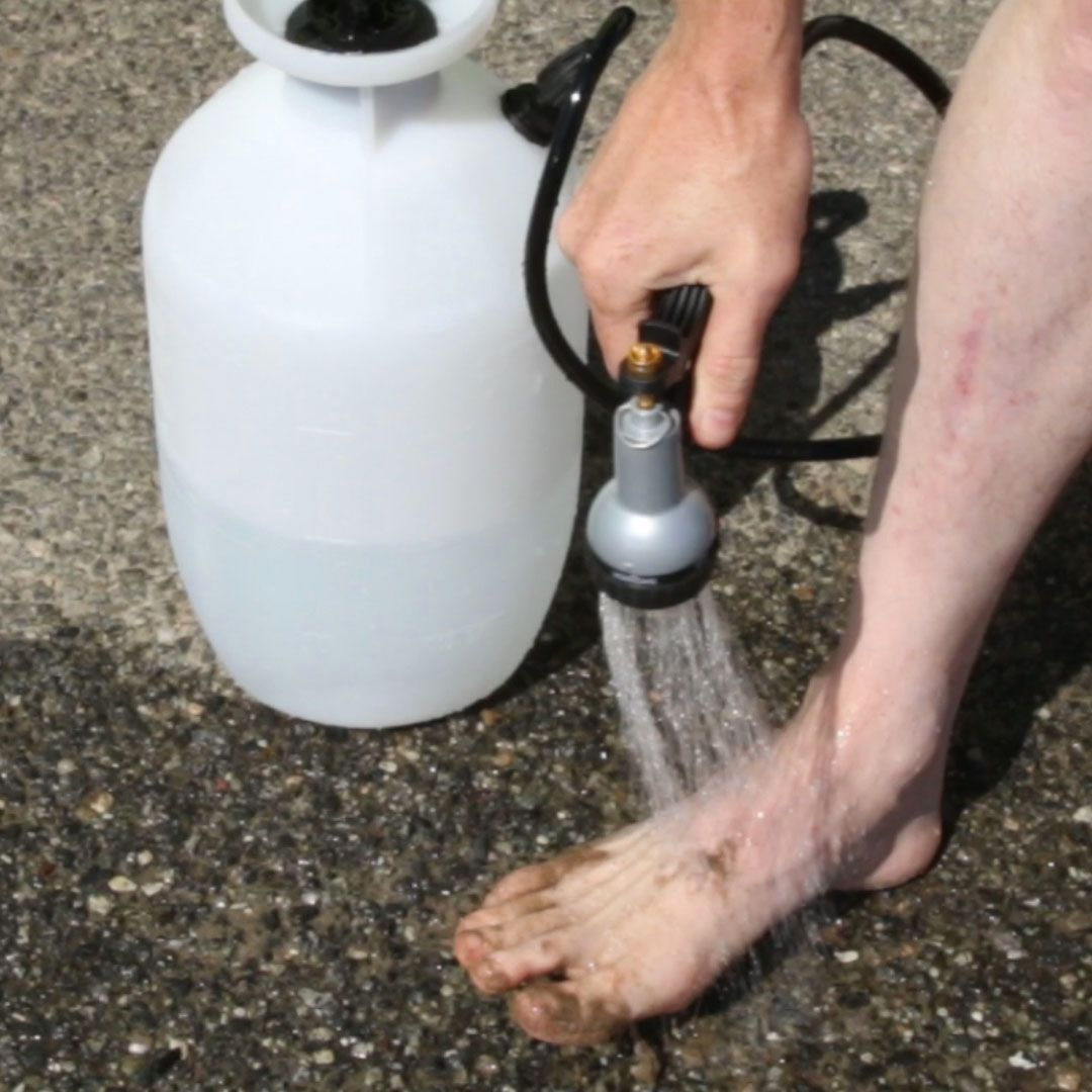 Camping Douche Batterie Portable Outdoor Shower Nifty Creative Home