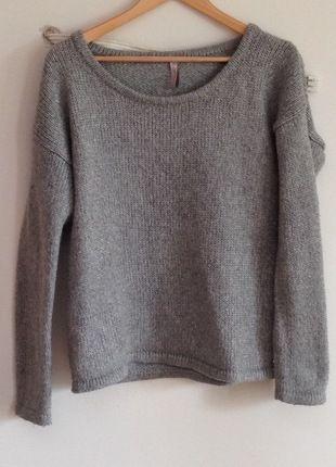 Kaufe meinen Artikel bei #Kleiderkreisel http://www.kleiderkreisel.de/damenmode/strickpullover/127428680-grauer-wollpulli-mit-metallicfaden