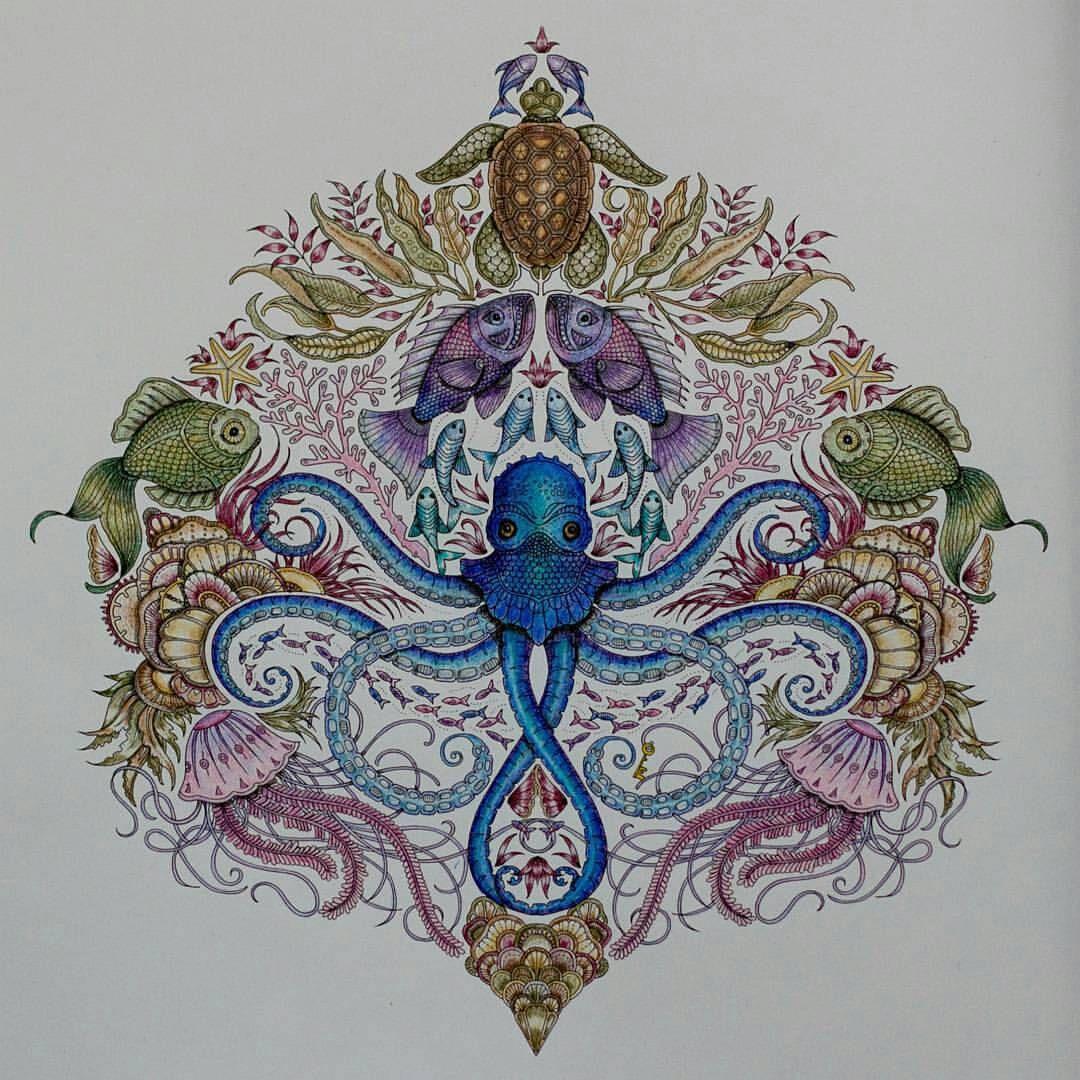 Lost Ocean Johanna basford coloring book, Coloring books