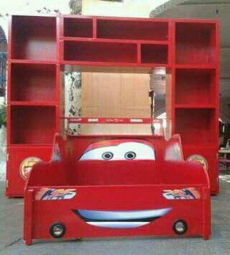 Cama Rayo Mcqueen Cama Carro Cars Recamara Infantil Librero ...