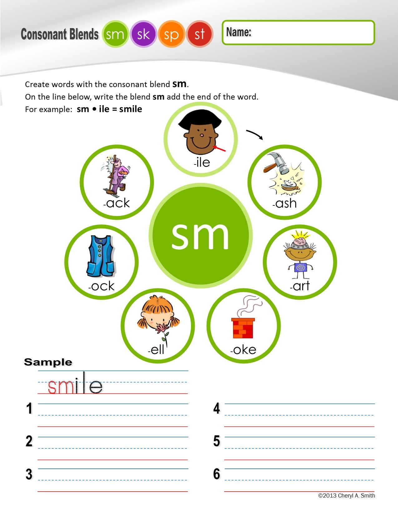 S Family Clusters Sm Sk Sp St 4 Of 4 Phonemic