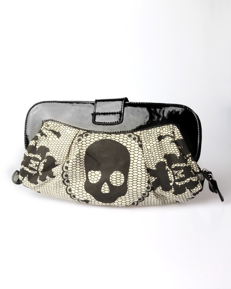 Iron Fist Lacey Days Clutch Bag Ivory