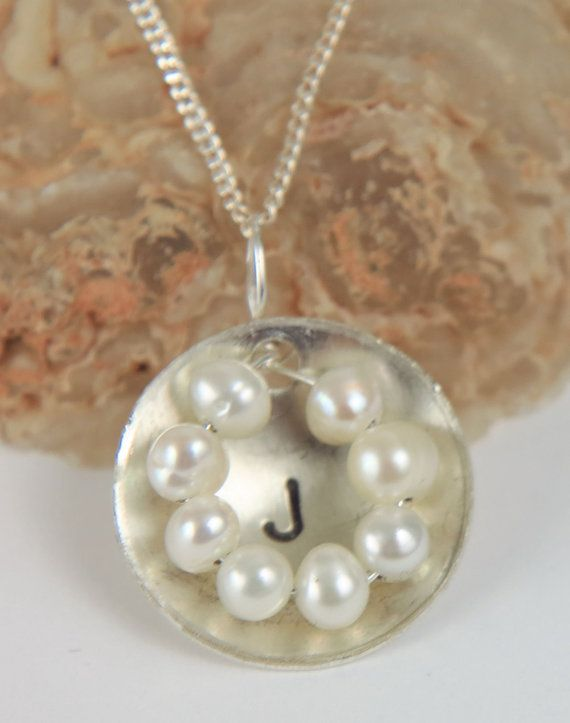Bridesmaid Necklace  Pearl Necklace  Initial by AuraleeCompany #wedding #bride #bridesmaids #personalized #initial