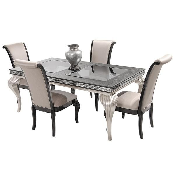 Hollywood Swank Black 5 Piece Formal Dining Set Formal Dining