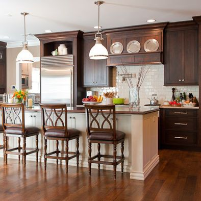 Kitchen By Ginny Padula Brown Kitchen Cabinets Kitchen Colour Schemes Kitchen Design