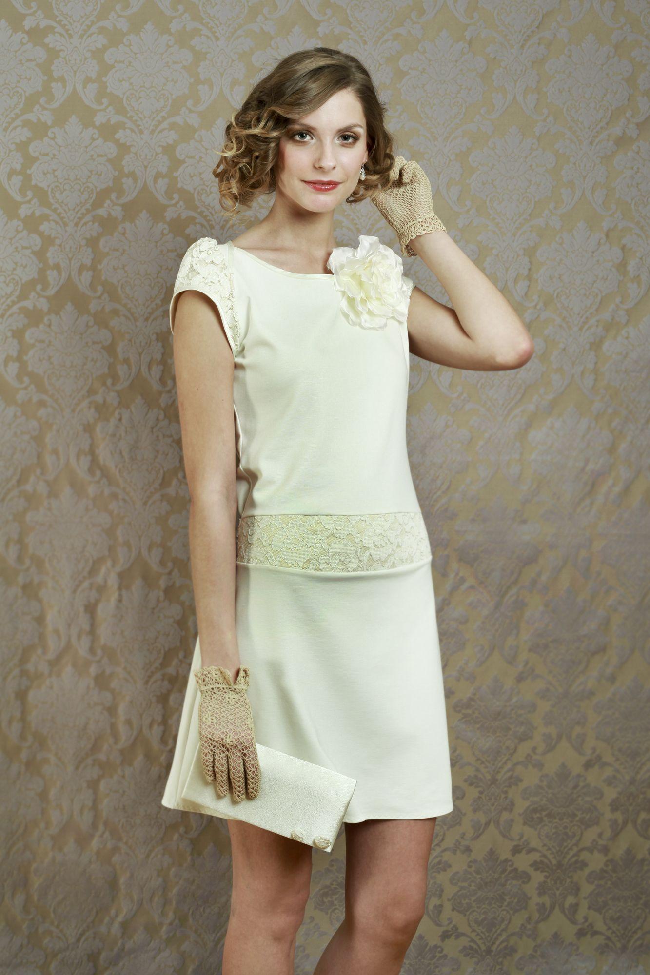 Labude - Brautkleid Victoire im 20er Jahre Stil 20s Style Short ...