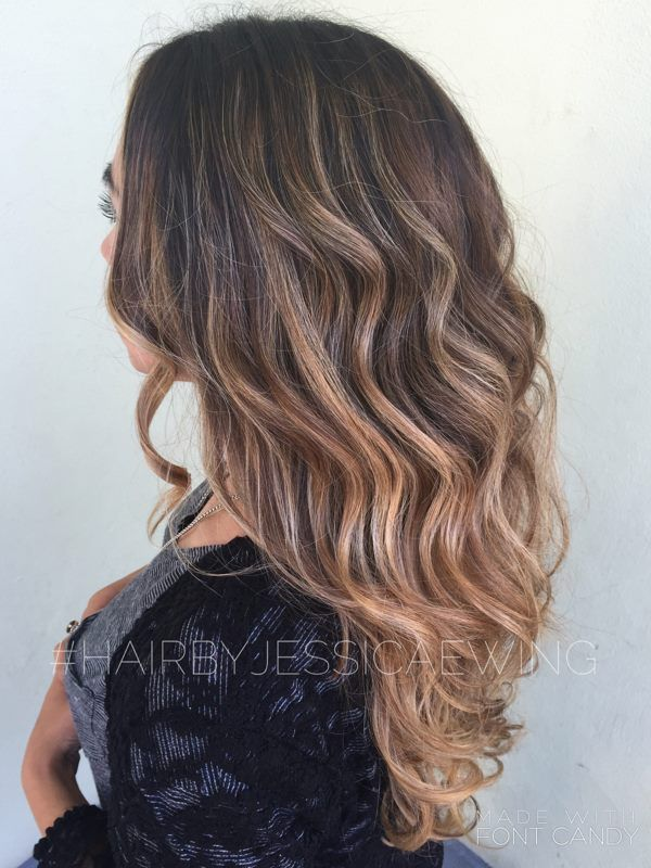 Brunette Balayage Plus Haircut And Style Done By Hair Stylist