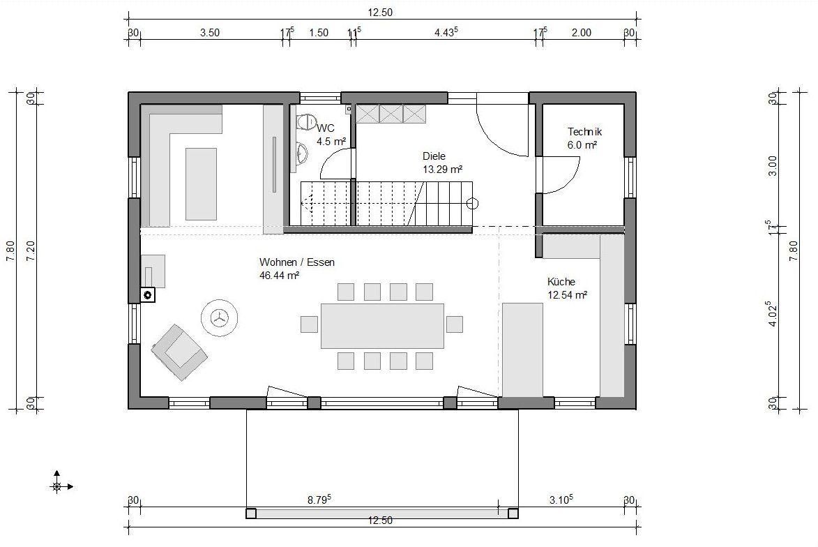 stadtvilla familienhaus 162qm 2 gauben haus grundriss haus haus grundriss schmales haus. Black Bedroom Furniture Sets. Home Design Ideas