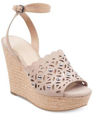 583b3cfe4e1 Marc Fisher Hata Platform Wedge Sandals - Tan/Beige 8.5M   Products ...