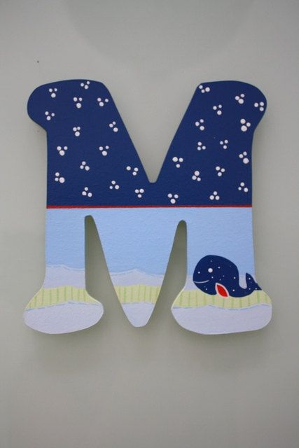 Whale Nursery Wood Letters Baby Boy Jackson Bedding Pottery Barn Kids Via Etsy