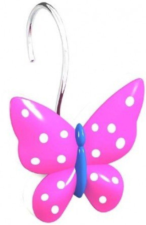 Butterfly Shower Curtain Hooks Curtains Butterflies