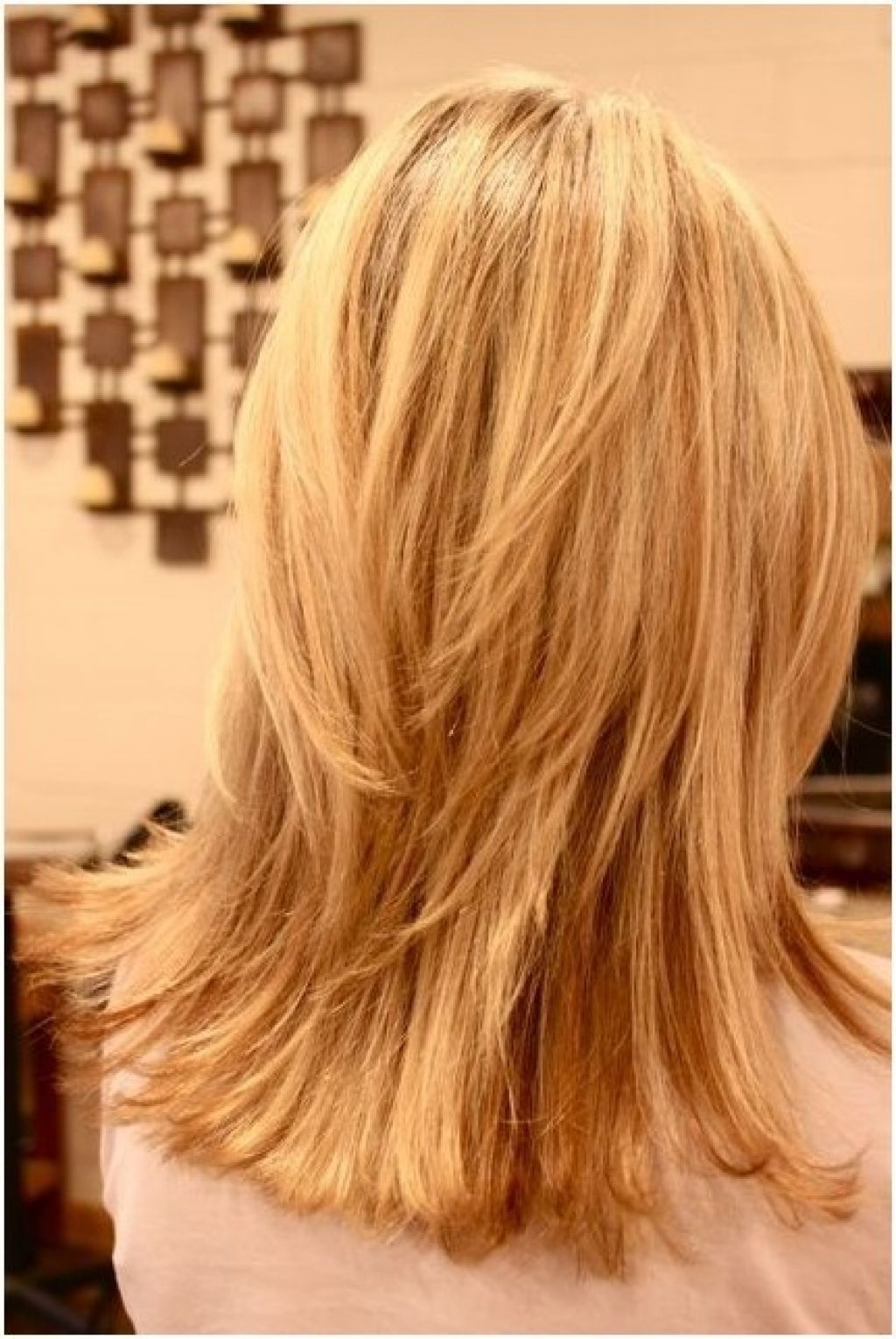 long, layered hairstyle back view. women. | hairstyles