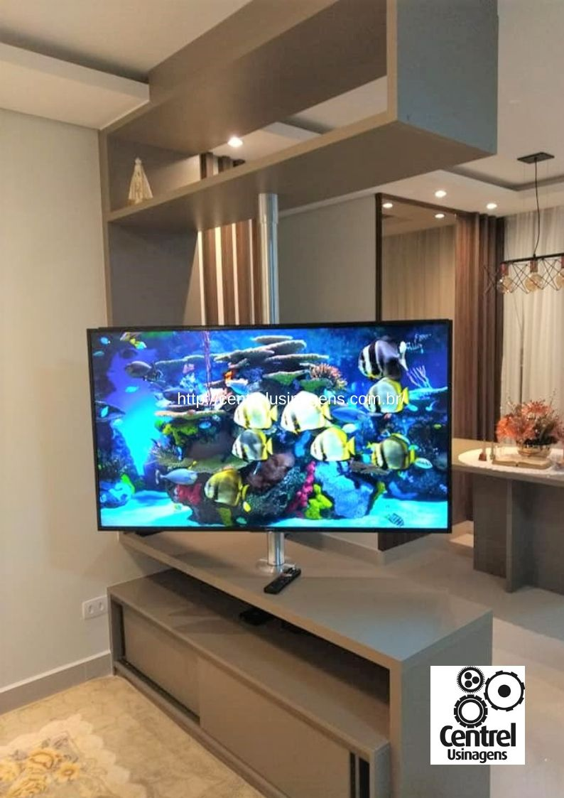 Suporte de TV giratório para 2 ambientes | Centrel