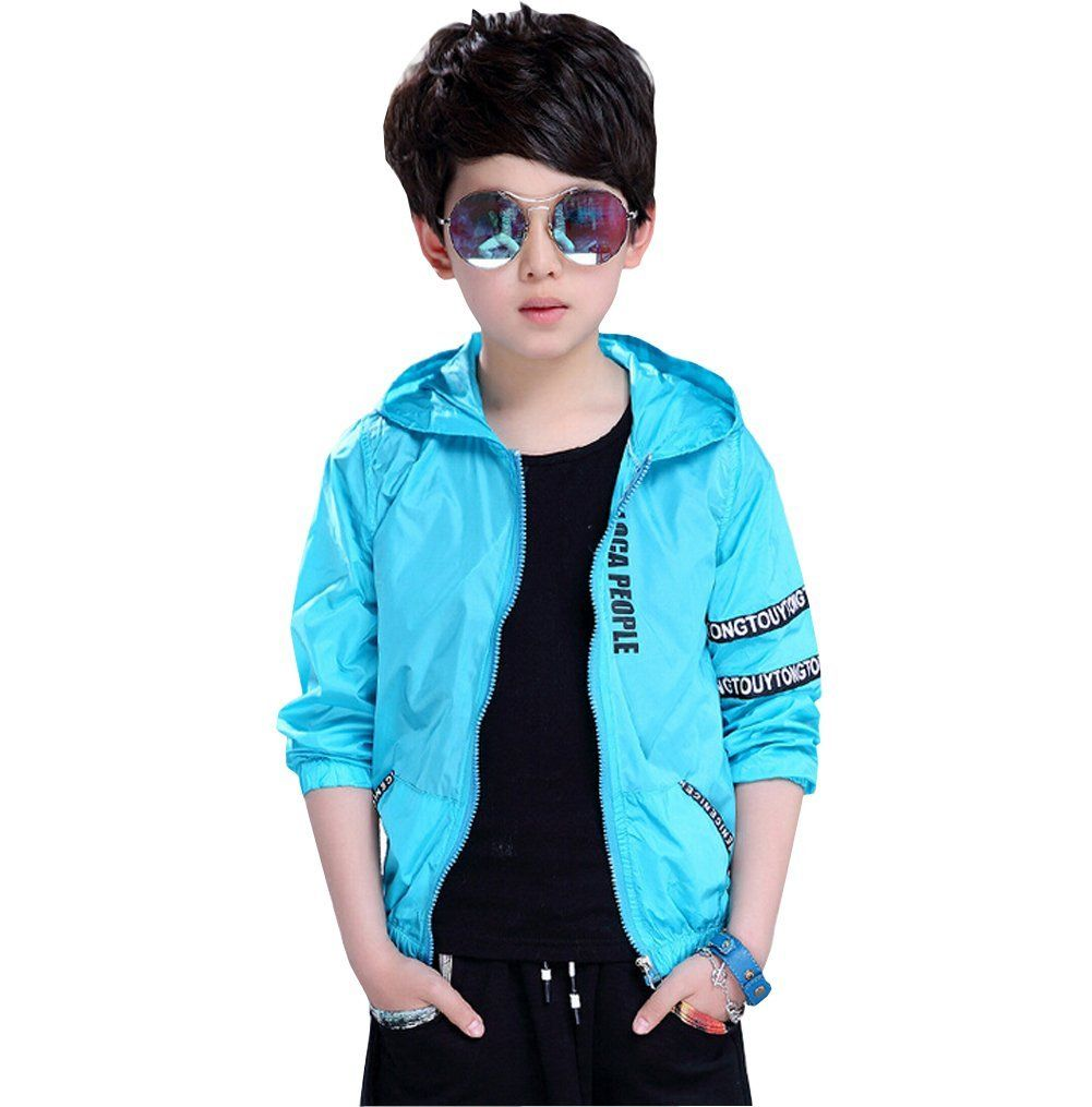 6e9226d39020 LifeWheel Kids Summer Anti UV Clothing Thin Coat for Boys 8-16. Whether you